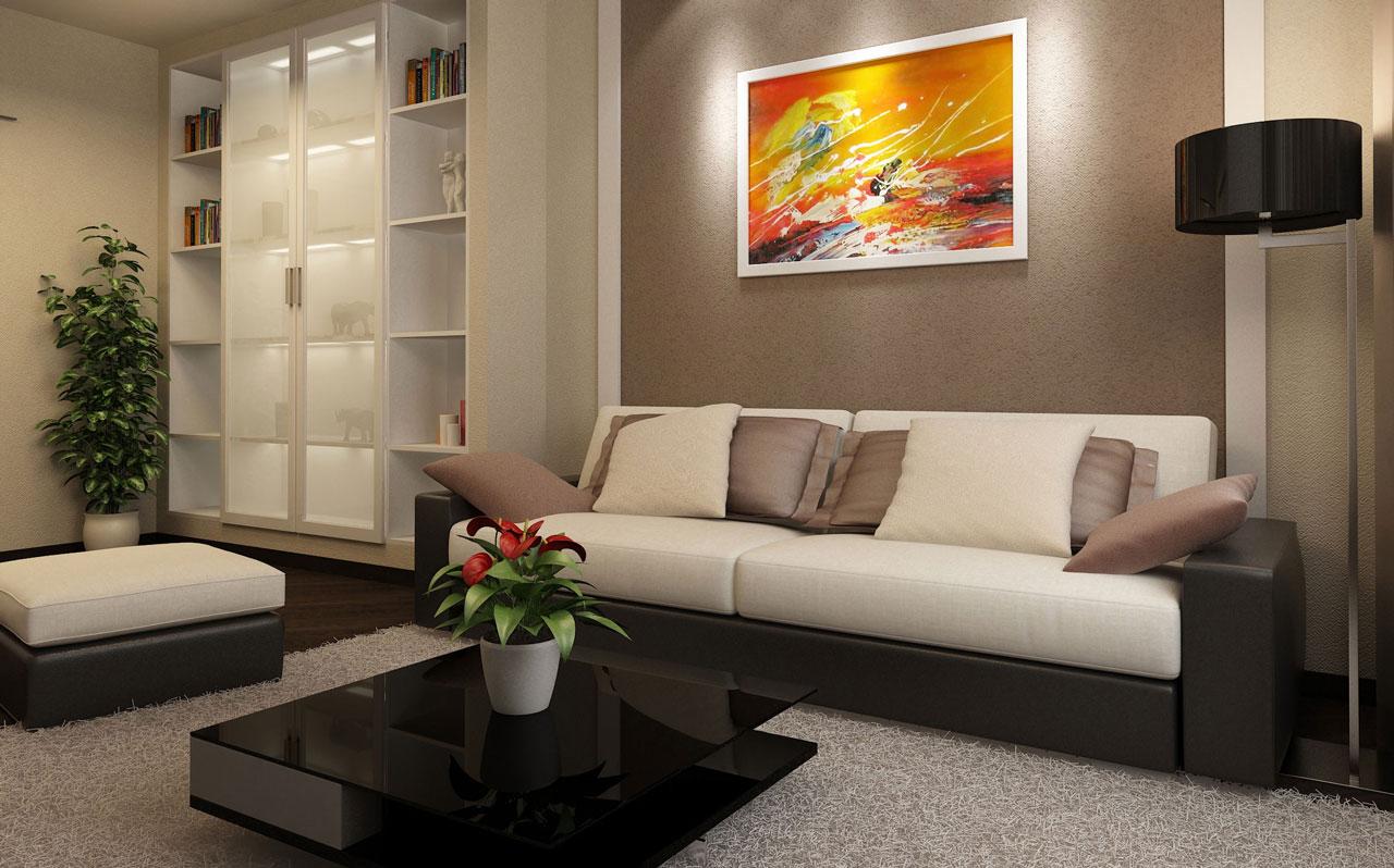 Эконом дизайн гостиной спальни