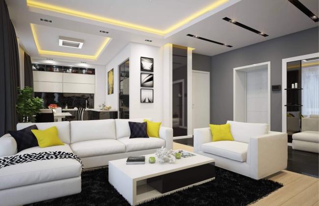 Интерьер квартиры в комплексе «Парус»