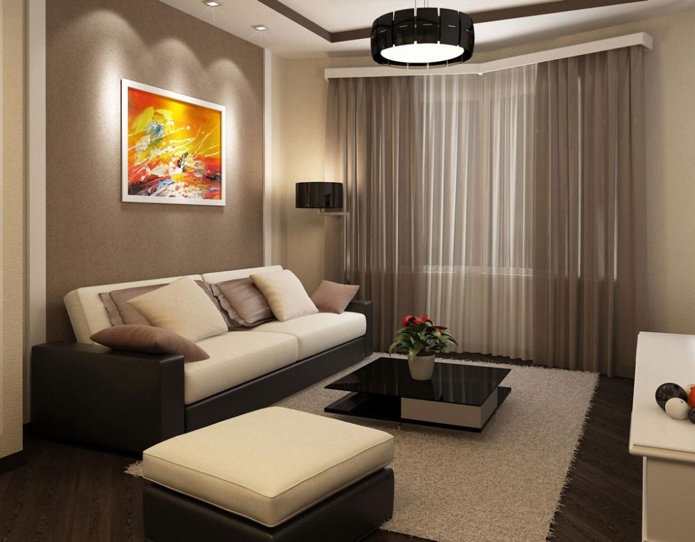 Дизайн 1 комнатной квартиры 43 квм с выделенным спальным местом