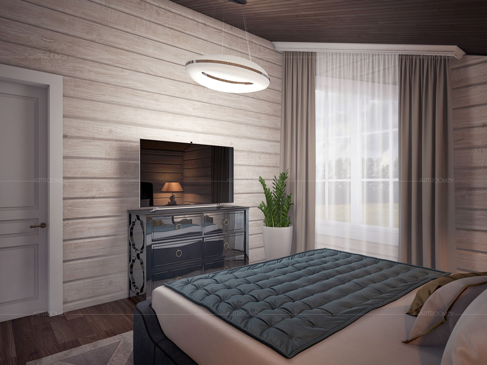 комнаты из имитации бруса фото домкраты