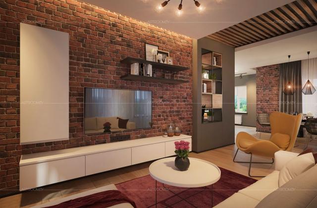 Интерьер частного дома в стиле лофт в Минске